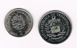 )  VENEZUELA  1 En 2  BOLIVARES  1990 - Venezuela