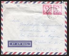 A) 1954 BELGIUM, BAUDOUIN KING 3F, 6F, BELGIQUE, AIRMAIL, CIRCULATED COVER FROM BELGIUM TO MEXICO D.F. - Airmail
