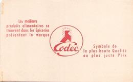 Buvard  épicerie Codec ( Taches, Pliures ) 21 Cm X 13,5 Cm - Blotters
