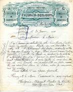 Théatre HALGRAIN-DEPAQUIT, Tournée Théatrales, Comédies, Vaudevilles Opérettes Etc.., ROMILLY Sur SEINE, 1920 - Objets Dérivés