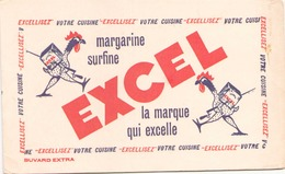 Buvard  Excel Margarine Surfine ( Pliures, Taches ) 21 Cm X 13 Cm - Buvards, Protège-cahiers Illustrés