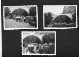 1947 Pont Saint Thomas - Bort Les Orgues Ussel Corrèze  - 3 Photos De Famille 6X9 Cm Env - Ussel