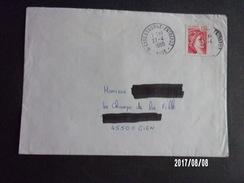Lettre Avec Vignette Adhésive (code Postal) - Curiosidades: 1980-89 Usados