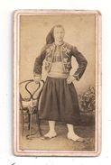 Zouave-C.D.V.-Photo -format 10.5x6.3 , Carte De Visite (C.180) - Photographs
