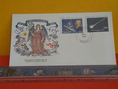 FDC Astronomie > Astrologie > RÉPUBLIQUE DES COMORES - VIRGO - 7.3.1986 - Comète De Halley - Astronomie