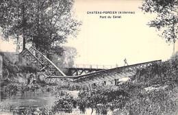 EVENEMENTS - Catastrophe - (08) CHATEAU PORCIEN : Le Pont Du Canal Détruit - CPA - Ardennes - Disasters