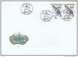 FDC 26 SLOVAQUIE 1994 Mi 187 Yv 152 Jeux Olympiques D'hiver à LILLEHAMMER Saut à Skis - FDC