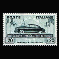 ITALY 1951 - Scott# 570 Auto Exhib. Set Of 1 MNH - 1946-60: Ungebraucht