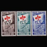 ITALY 1951 - Scott# 574-6 Gymanstic Fest. Set Of 3 MNH - 1946-60: Ungebraucht