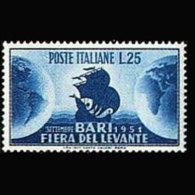 ITALY 1951 - Scott# 585 Levant Fair Set Of 1 MNH - 1946-60: Ungebraucht