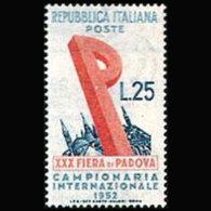 ITALY 1952 - Scott# 606 Padua Fair Set Of 1 MNH - 1946-60: Ungebraucht