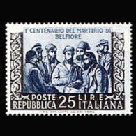 ITALY 1952 - Scott# 618 Five Martyrs Set Of 1 MNH - 1946-60: Ungebraucht