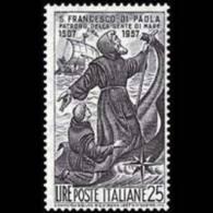 ITALY 1957 - Scott# 732 St.Francis Set Of 1 MNH - 1946-60: Ungebraucht