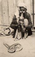 CPSM Paci - Karachi - The Snake-Charmer - Maghreb & Charmeur De Serpents - - Musik