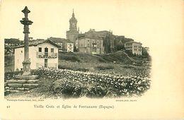 Cpa FUENTERRABIA - Vieille Croix Et Eglise De FONTARABIE - Guipúzcoa (San Sebastián)