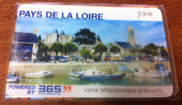 PAYS DE LA LOIRE CARTE TÉLÉPHONIQUE A CODE NSB N°8 PHONECARD CARD QUE POUR LA COLLECTION - France
