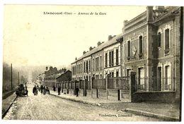 CPA 60 Oise Liancourt Avenue De La Gare Animation - Liancourt