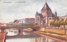 Judaisme.Judaica.Juif..     Synagogue   Strasbourg     Dessin              (voir Scan) - Judaika