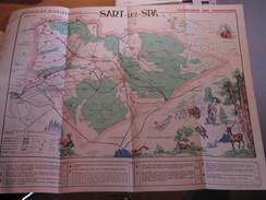 SART LEZ SPA - CARTE DES PROMENADES - EDITEUR PUBLI-LUMA à Aywaille - Cartes