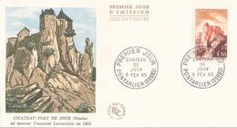 France FDC Du 6 Février 1965 à Pontarlier Chateau-fort De Joux - 1960-1969