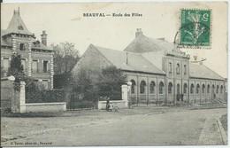Beauval-École Des Filles-(CPA) - Beauval