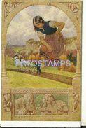 76397 ART ARTE SIGNED PAUL HEY SHORT STORY THE GIANT POSTAL POSTCARD - Illustratoren & Fotografen