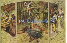 76398 ART ARTE SIGNED PAUL HEY SHORT STORY THE VALIANT DRESSMAKER MULTI VIEW POSTAL POSTCARD - Illustratoren & Fotografen