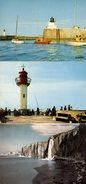 3 CPSM Normandie - Seine-Maritime - Dieppe - 76200 - Pêcheurs Sur La Jetée, La Rentrée Au Port & Les Falaises - Varengeville Sur Mer