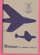 Air Force 1960 Avion Tactical Air Commando Delpiants Guide Langley AFB Aviation - Fuerzas Armadas Americanas