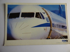 AIRLINE ISSUE / CARTE COMPAGNIE     CCM AIRLINES / COMPAGNIE CORSE MEDITERRANEE    FOKKER 100 - 1946-....: Ere Moderne