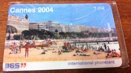06 CANNES 2004 CARTE TÉLÉPHONIQUE A CODE PUBLIQUE 365 NSB N°8 PHONECARD CARD QUE POUR COLLECTION NO TELECARTE - France