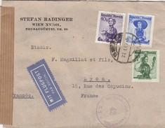 AUTRICHE - AUSTRIA COVER CENSOR  WIEN 27.1.49 TO LYON FRANCE - STEFAN RADINGER   /1 - 1945-60 Briefe U. Dokumente