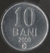 MOLDOVA 10 BANI 2008 KM# 7 - Moldova
