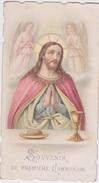 Chromo - CANIVET  Image Pieuse Et Religieuse  SOUVENIR DE PREMIÈRE  COMMUNION - JESUS PRIANT 1904  - BOUASSE LEBEL - Devotion Images