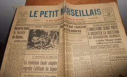 Le Petit Marseillais.Mardi 16 Novembre 1937. - Kranten