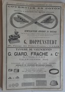 PUB 1888 - CONSERVES Aliment Rue Lavoisier Nantes 44, COULEURS à Prix (Mézières/Haudrecy) Courroie TANNERIE Valenciennes - Publicités