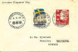 Sweden Cover Junemässen Stockholm 6-6-1948 (The Swedish Flag Day) Very Nice Cover - Sweden
