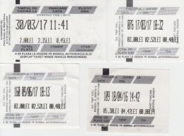 Romania Parking Ticket 4 Tickets - Tickets - Entradas