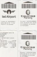 Romania Parking Ticket 4 Tickets - Tickets D'entrée