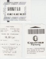 Romania Parking Ticket 3 Tickets - Tickets - Entradas
