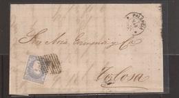 1872 Carta Envoltorio A Tolosa De Palencia Edifil 107 VC 10,50€ - Cartas