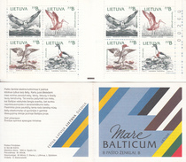 """1992 Lithuania Birds Oiseaux Complete Booklet Carnet """"unexploded""""  VF MNH - Ohne Zuordnung"""