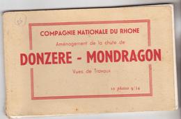 26 Donzere - Mondragon. Carnet De 10 Cartes Réalisées Au Cours Des Travaux De L'aménagement De La Chute. Complet TBE. - Donzere