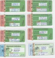 Romania Season Tickets Bus/tram 8 Items - Week-en Maandabonnementen