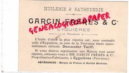 13 - EYGUIERES- HUILERIE SAVONNERIE GARCIN FRERES -PROVENCE-HUILE OLIVE- CHATEAU DE BLOIS FACADE EXTERIEURE FRANCOIS 1ER - Cartes De Visite