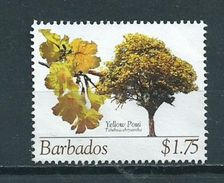 2005 Barbados $1.75 Yellow Poui Used/gebruikt/oblitere - Barbados (1966-...)