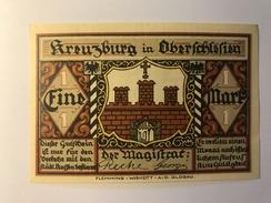 Allemagne Notgeld Kreuzburg 1 Mark - [ 3] 1918-1933 : Weimar Republic