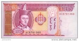 MONGOLIE  20 Tugrik   Emission De 2002     Pick 63 B        ***** BILLET  NEUF ***** - Mongolia