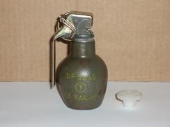 Grenade Défensive Française En Fonte Mod 37/46 Marquages Et Peinture D'origine (rare) - Armes Neutralisées