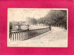55 MEUSE, VERDUN, Promenade De La Digue, 1903, Animée, (R. Vacher) - Verdun
